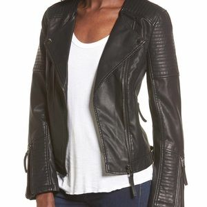 Topshop Faux Nelly Moto Jacket